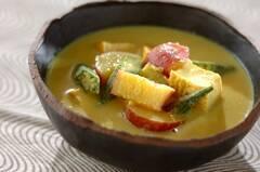 サツマイモの豆乳カレースープ