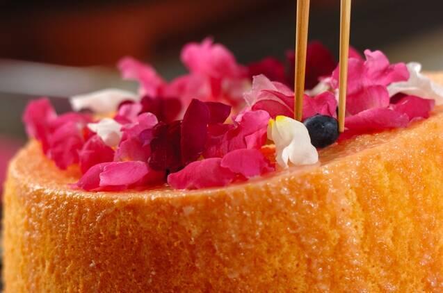 ふわふわシフォンのデコレーションケーキの作り方の手順15