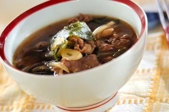 牛肉とワカメのスープ