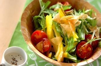 水菜のカリカリサラダ