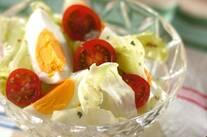 ゆで卵とレタスのサラダ