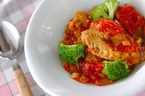 鶏肉のスパイス炒め煮