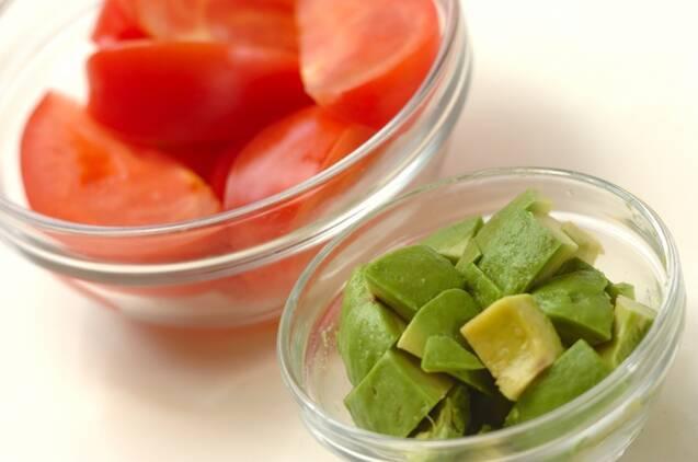 トマトのマリネサラダの作り方の手順1