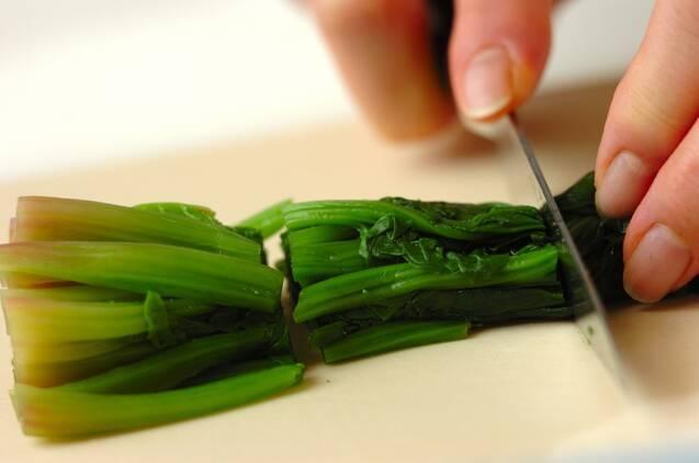 ホウレン草とベーコンの白和えの作り方の手順1