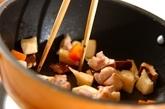 鶏肉とタケノコのレンジおこわの作り方1