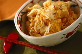 ツナと豆腐のシンプル炒め