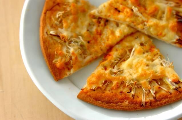 シラスとネギのピザ