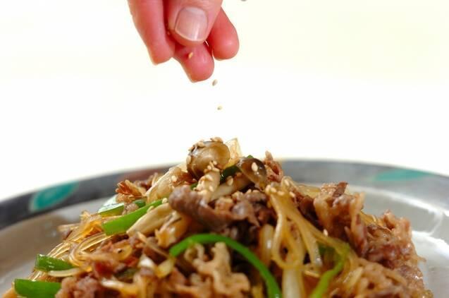 牛肉の甘辛炒めの作り方の手順4
