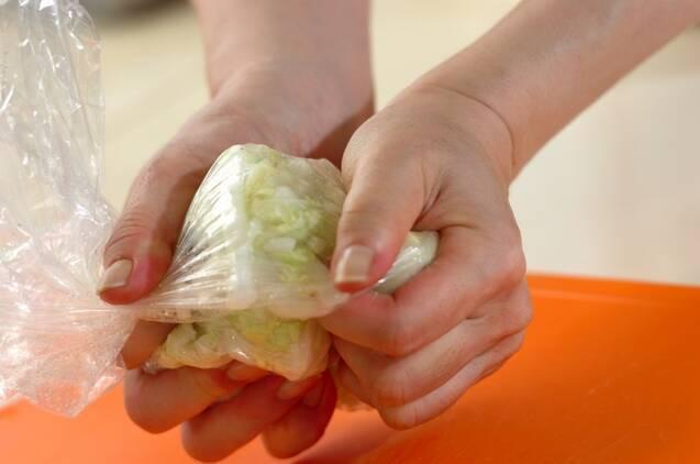 塩もみ白菜の塩昆布和えの作り方の手順1