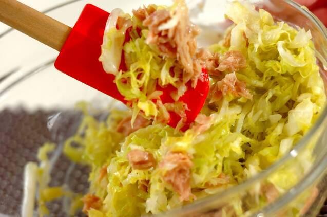 キャベツとツナのサラダの作り方の手順2