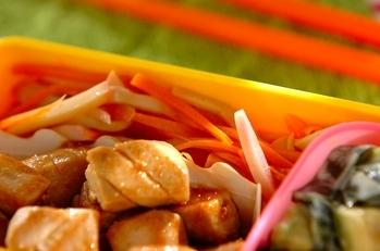 ニンジンとカマボコのレンジ煮