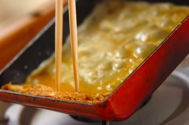 だし巻き卵サンドの作り方の手順3