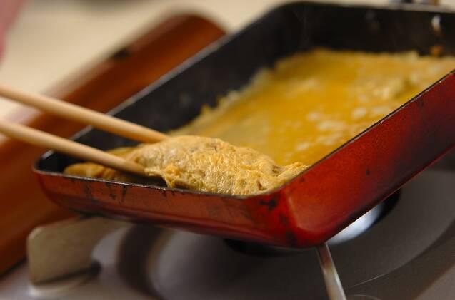 だし巻き卵サンドの作り方の手順4