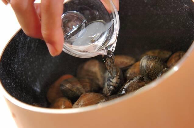 アサリの酒蒸しの作り方の手順2