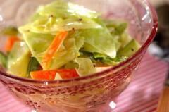 アスパラとキャベツのサラダ