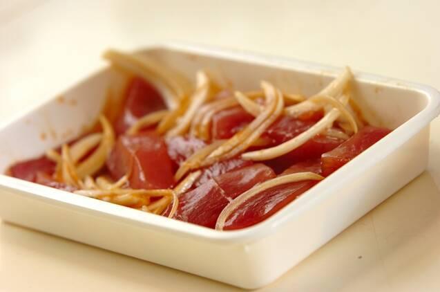マグロの漬け丼の作り方の手順2