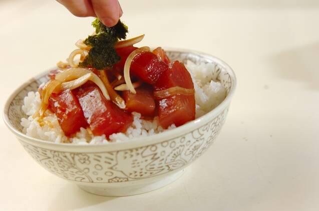マグロの漬け丼の作り方の手順3