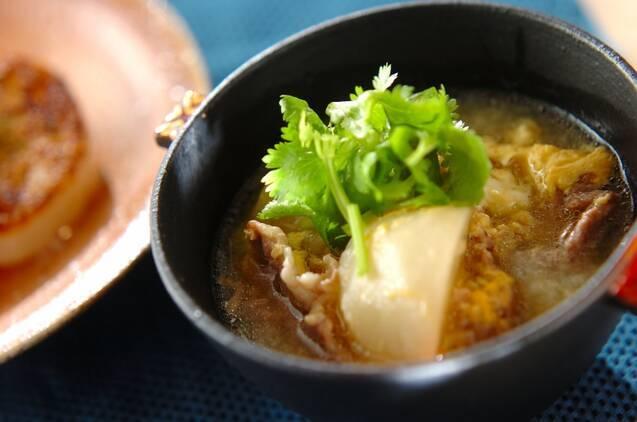 蕪と豚肉のスープ
