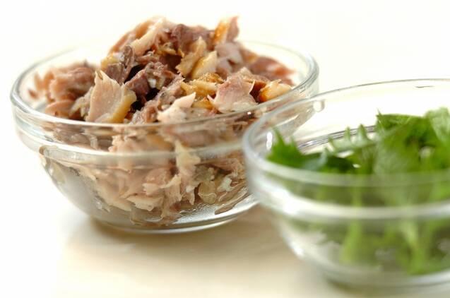 焼きサバの混ぜ寿司の作り方の手順1