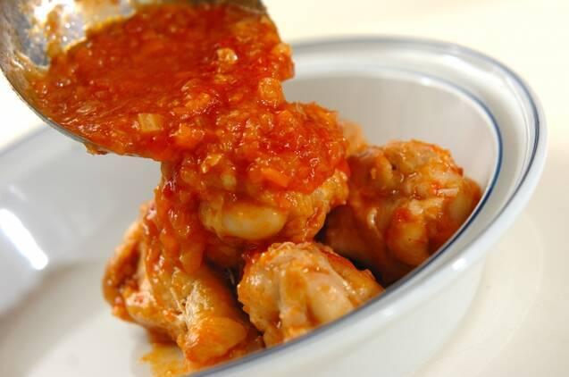 鶏手羽元のやわらかトマト煮の作り方の手順7