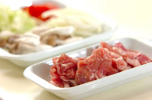 豚こまのショウガ焼き丼の作り方の手順1