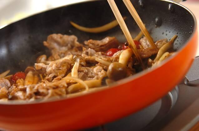 豚こまのショウガ焼き丼の作り方の手順4