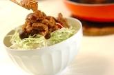 豚こまのショウガ焼き丼の作り方3