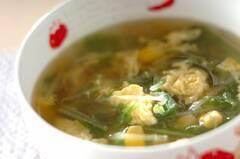 水菜と卵のスープ