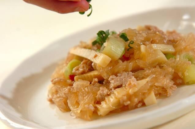 春雨とひき肉のピリ辛炒めの作り方の手順8