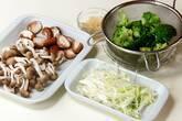 エビと野菜の中華炒めの下準備2