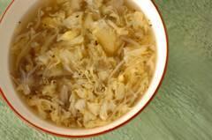 卵とマイタケのトロミスープ