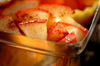 リンゴのバターソテー