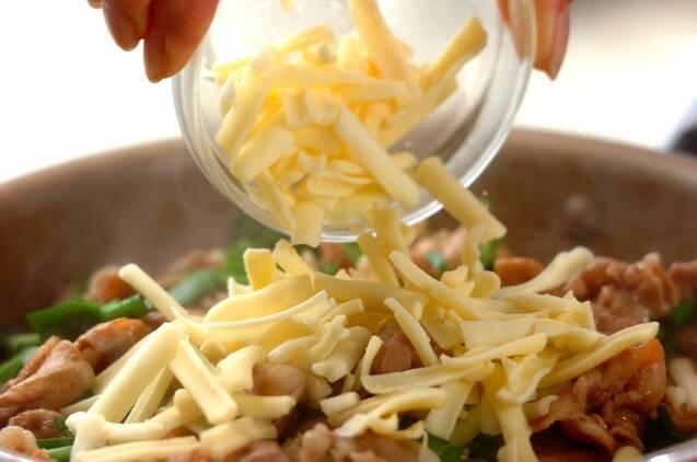 厚揚げと豚肉の甘辛チーズ煮の作り方の手順4