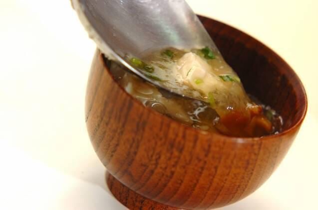 くずし豆腐のナメコおろし汁の作り方の手順4