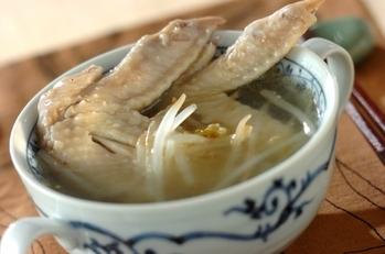 鶏手羽スープ