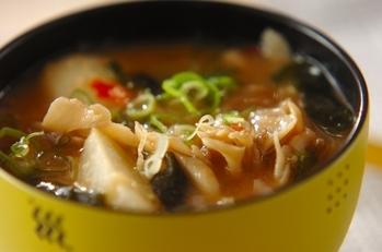 マイタケ出汁の辛みそスープ(前日準備有り)