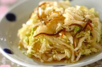 白菜の麺つゆ浅漬け