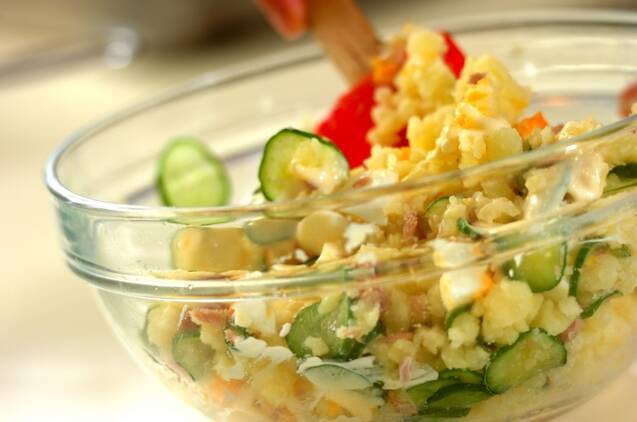 コク甘ポテトサラダの作り方の手順6