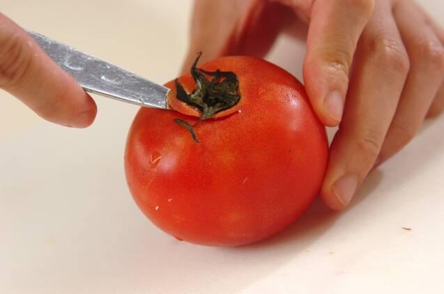 トマトとレタスのスパイシーサラダの作り方の手順1