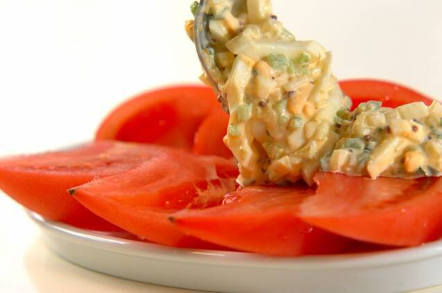 トマトと卵のサラダの作り方の手順4