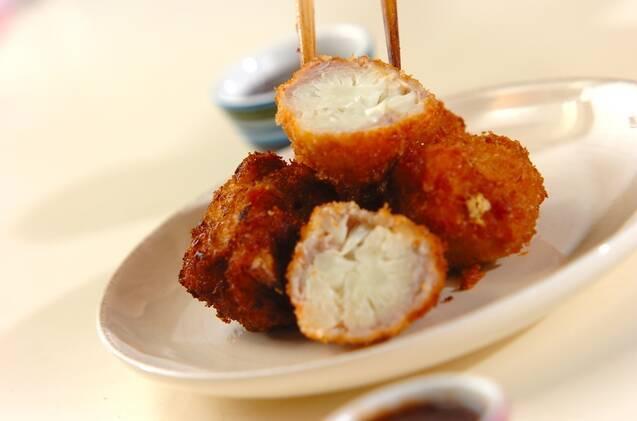 カリフラワーの豚肉巻き揚げの作り方の手順3