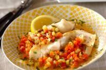 白身魚と野菜の蒸し煮