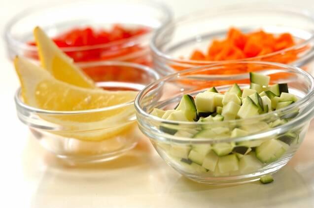 白身魚と野菜の蒸し煮の作り方の手順2