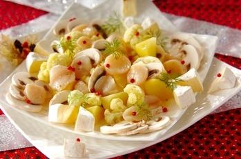 ホタテのホワイトサラダ
