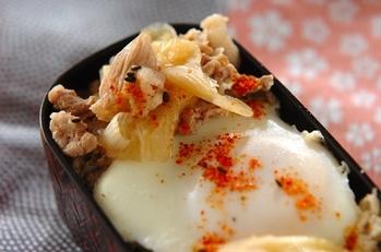 豚肉と白ネギの麺つゆ煮