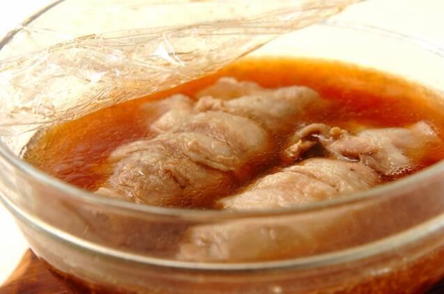 豚肉のレンジロールの作り方の手順5