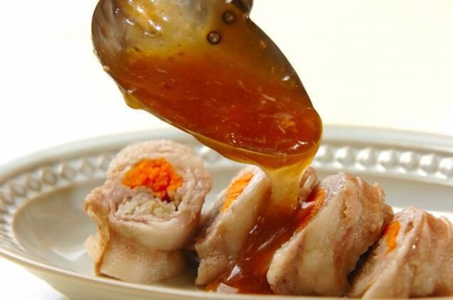 豚肉のレンジロールの作り方の手順6