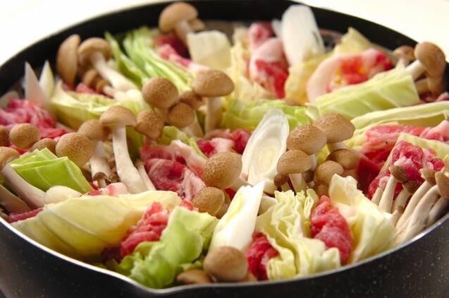 豚肉とキャベツ蒸しの作り方の手順3