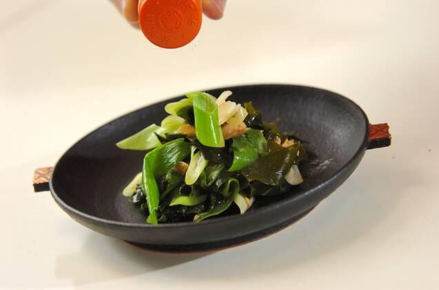ワカメとツナの炒め物の作り方の手順4