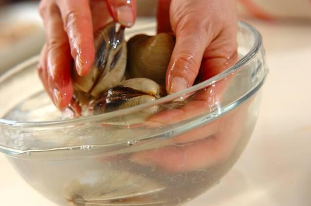 ホンビノス貝の網焼きの作り方の手順1